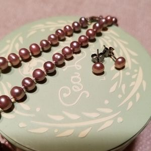 Jewelry - Freshwater Pearl Necklace and Earings